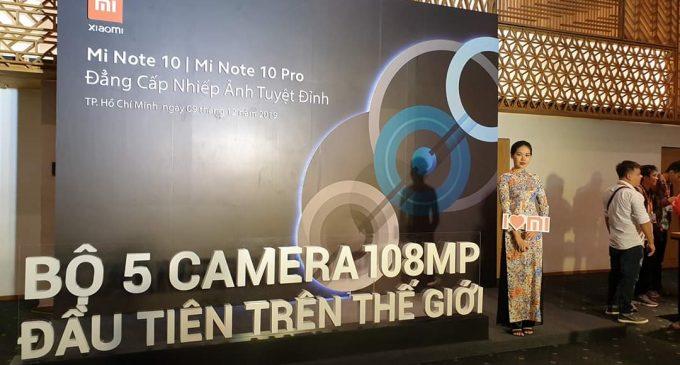 Xiaomi ra mắt Mi Note 10 ở Việt Nam