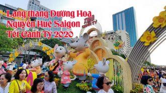 VIDEO:Lang thang Đường Hoa Nguyễn Huệ Saigon Tết Canh Tý 2020