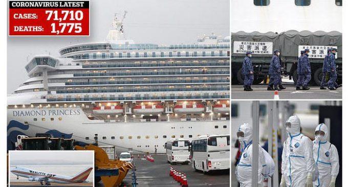 Có thêm 99 người nữa trên du thuyền Diamond Princess ở Nhật nhiễm virus gây dịch COVID-19