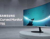 Màn hình Samsung T55 có độ cong 1000R đầu tiên ở Việt Nam