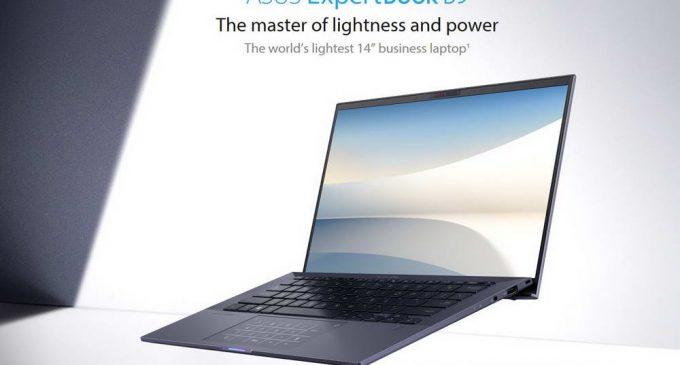 ASUS ExpertBook B9: laptop doanh nhân pin 24 giờ nhẹ nhất thế giới