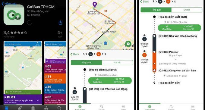 Sở GTVT TP.HCM kết hợp với Grab xây dựng ứng dụng Go!Bus cung cấp thông tin vận tải hành khách công cộng trên thiết bị di động