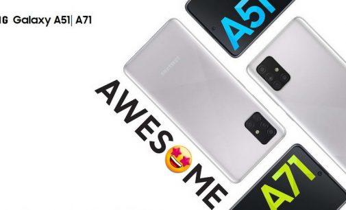 Samsung Galaxy A51 và A71 có thêm tính năng Chụp Một chạm và màu Bạc Crush