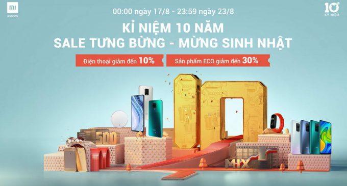 Xiaomi khuyến mại 1 tuần ở Việt Nam mừng sinh nhật 10 năm