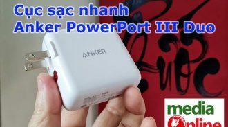 VIDEO: Làm quen với cục sạc nhanh 2 cổng Anker PowerPort III Duo 36W