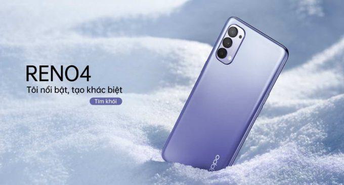 Smartphone OPPO Reno4 ở Việt Nam có thêm phiên bản màu Tím Khói