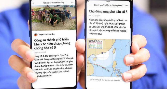 Các tỉnh khu vực tâm bão số 5 thông tin kịp thời cho người dân qua Zalo