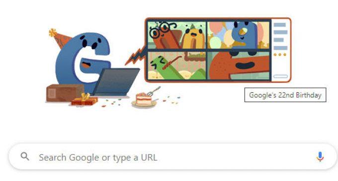 Google mừng sinh nhật thứ 22