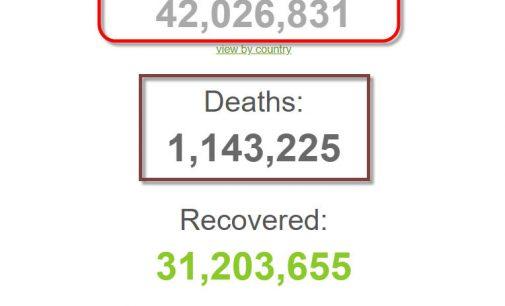 Số bệnh nhân COVID-19 trên thế giới đã vượt mốc 42 triệu người