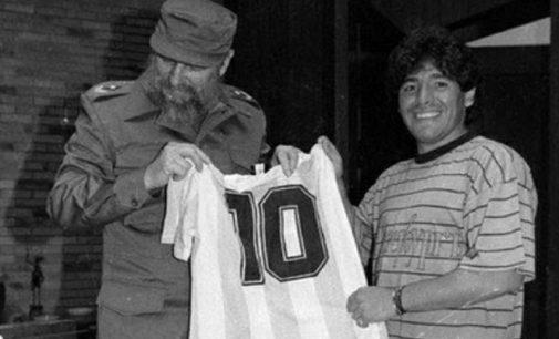 Huyền thoại bóng đá Maradona có chung ngày giỗ với cựu Chủ tịch Cuba Fidel