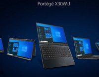 Dynabook ra mắt laptop 13 inch Portégé X30W-J chạy CPU Intel Core Gen 11 nhẹ dưới 1kg