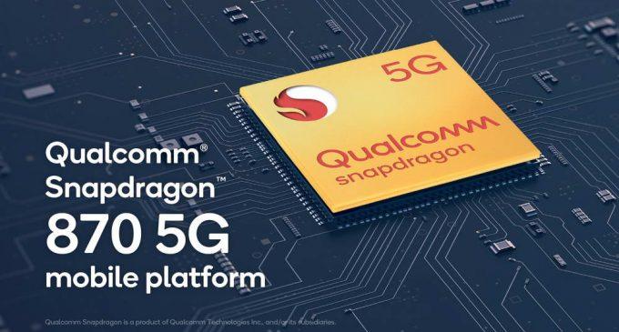 Qualcomm giới thiệu nền tảng di động cải tiến Snapdragon 870 5G cho thiết bị high-end