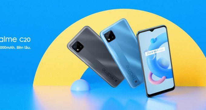 Smartphone realme C20 pin 5.000mAh cho người dùng phổ thông ở Việt Nam