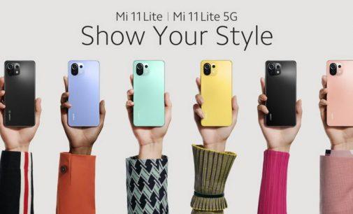 Xiaomi ra mắt smartphone siêu mỏng Mi 11 Lite 5G và Mi 11 Lite