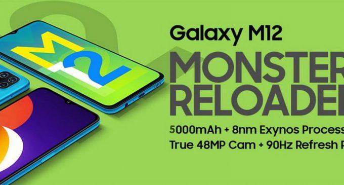 """Samsung ra mắt smartphone """"Mãnh thú"""" Galaxy M12 với màn hình 90Hz và Quad-camera 48MP"""