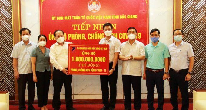 Tập đoàn VNPT trao tặng Bắc Ninh và Bắc Giang mỗi tỉnh 1 tỷ đồng cho quỹ phòng, chống COVID-19