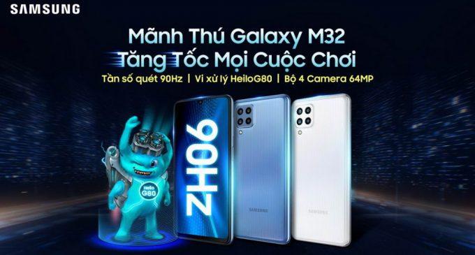"""Samsung ra mắt """"Mãnh thú"""" mới Galaxy M32 cho phân khúc tầm trung"""
