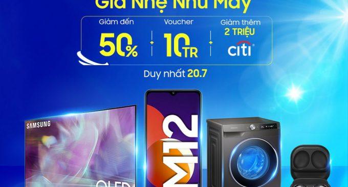 Samsung có nhiều ưu đãi lớn cho người tiêu dùng trên sàn TMĐT Shopee ngày 20-7-2021