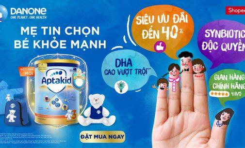 Danone giới thiệu sản phẩm dinh dưỡng trên sàn TMĐT Shopee