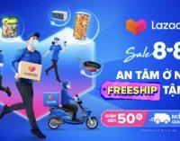 Lazada sale 8.8 miễn phí giao hàng