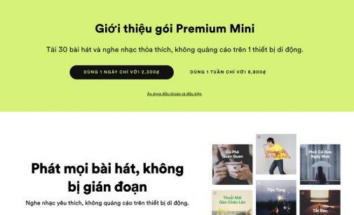 Spotify ra mắt gói nghe nhạc hàng ngày và hàng tuần Premium Mini