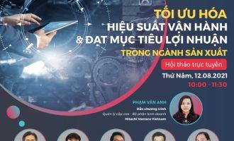 Hitachi Vantara Việt Nam chuẩn bị hội thảo online về chuyển đổi số để đạt lợi nhuận trong ngành sản xuất