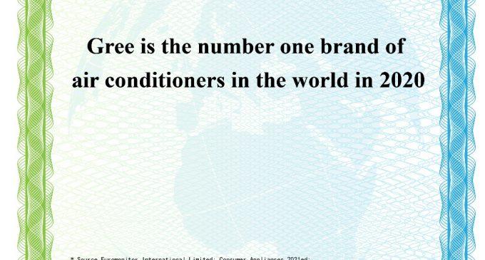 GREE 6 năm liền đạt thương hiệu máy lạnh số 1 thế giới