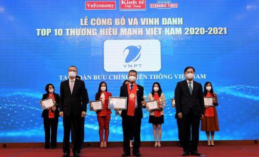 VNPT trong Top 10 Thương hiệu mạnh Việt Nam 2020-2021